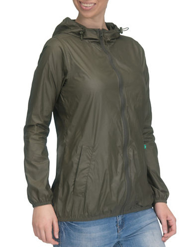 Modern Eternity Ciara 3-In-1 Waterproof Maternity Windbreaker Jacket-GREEN-X-Large