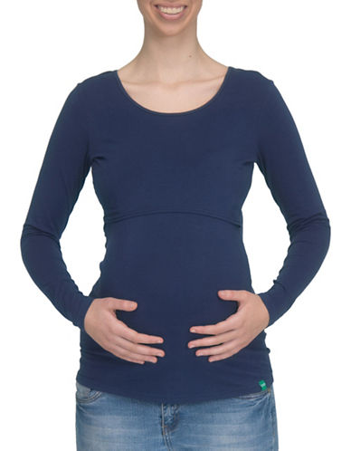 Modern Eternity Charlotte Long Sleeve Nursing Top-BLUE-X-Large 89203603_BLUE_X-Large
