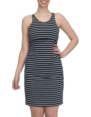 Modern Eternity Samantha Tank Top Nursing Dress-BLACK-Large