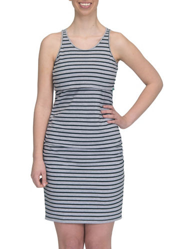 Modern Eternity Samantha Tank Top Nursing Dress-GREY-Large