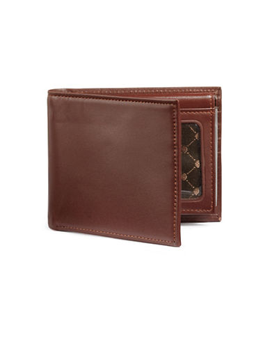 Perry Ellis Boxed Sutton Leather Passcase-BROWN-One Size