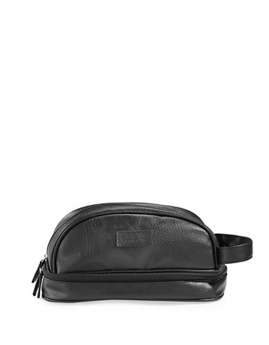 Perry Ellis Dual Compartment Travel Kit-BLACK-One Size
