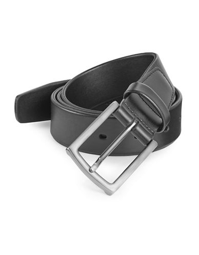 Perry Ellis Soft Tubular Leather Belt-BLACK-38
