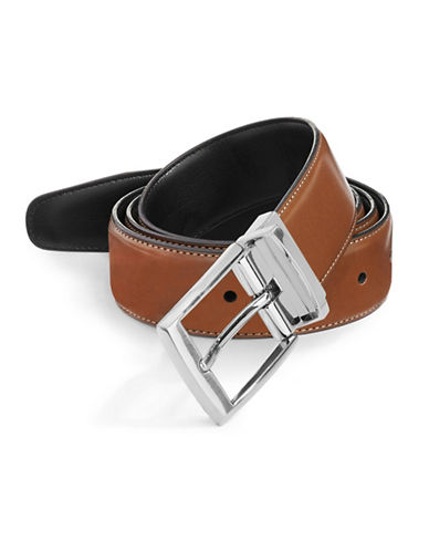 Perry Ellis Amigo Reversible Belt-BROWN-38