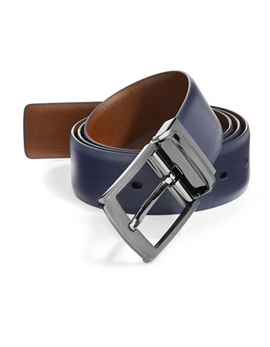 Perry Ellis First Navy Reversible Belt-NAVY-32