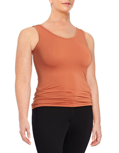 Harper + Liv Plus Plus Seamless Tank Top-ORANGE-2X plus size,  plus size fashion plus size appare