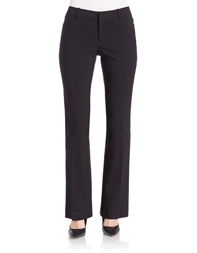 Lord & Taylor Plus Kelly Boot Leg Pants-BLACK-18W