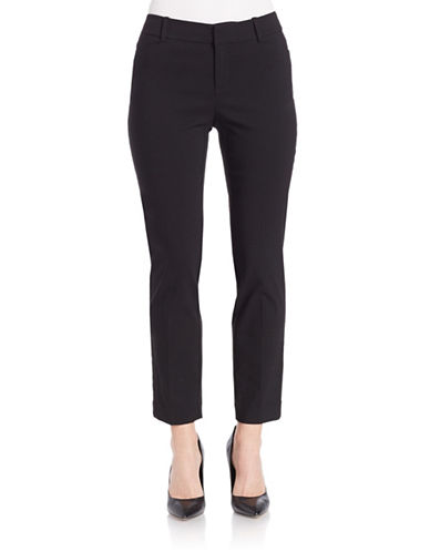 Lord & Taylor Plus Kelly Ankle Pants-BLACK-16W