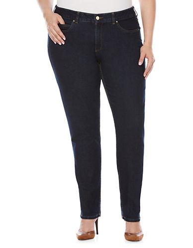 Rafaella Plus Dark Indigo Skinny Jeans-BLUE-18W