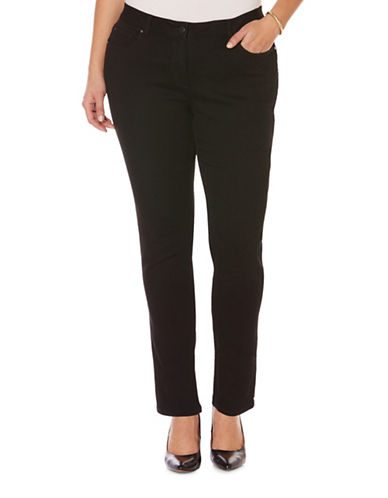 Rafaella Plus Cotton Blend Skinny Jeans-BLACK-20W