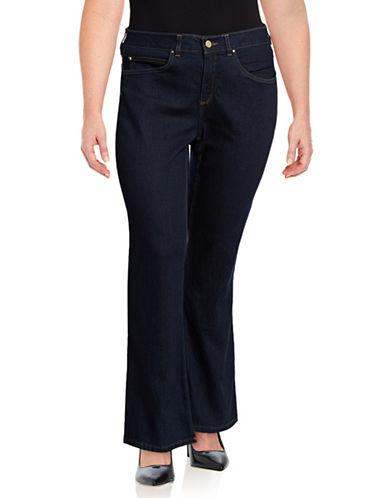 Rafaella Plus Slimming Bootcut Jeans-BLUE-16W