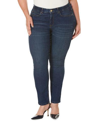 Rafaella Plus Slimming Skinny Jeans-BLUE-16W