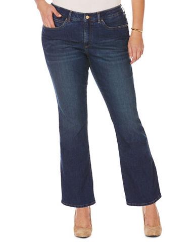 Rafaella Plus Bootcut Jeans-BLUE-22W