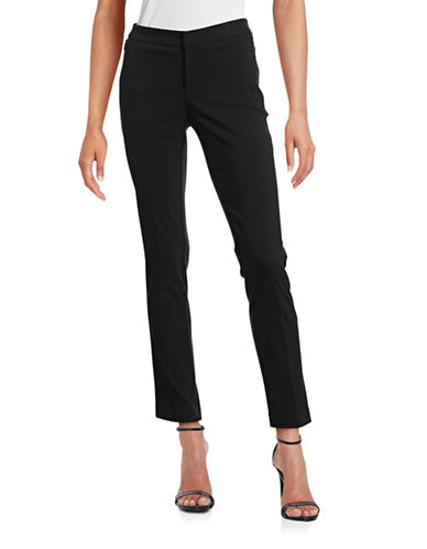 Lord & Taylor Kelly Slim Stretch Pants-BLACK-0