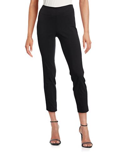 Lord & Taylor Taylor Slim Ankle Pants-BLACK-2