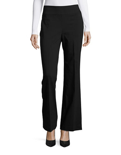 Lord & Taylor Wide Leg Curvy Fit Pants-BLACK-2