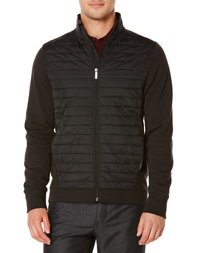 Perry Ellis Long-Sleeve Quilted Knit Jacket-BLACK-XX-Large 88520438_BLACK_XX-Large