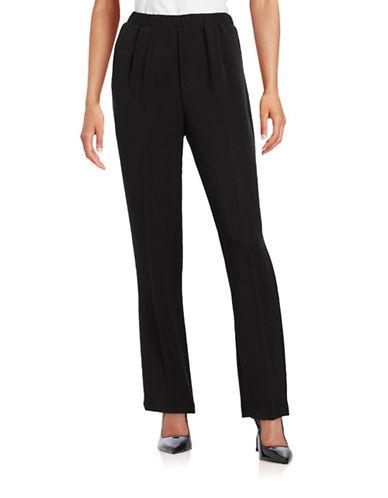 Allison Daley Straight Leg Pants-BLACK-10