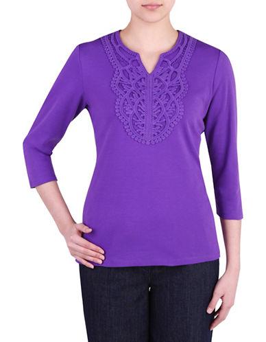 d43215082e5fe1 UPC 086447512597 product image for Allison Daley Plus Notch V-Neck T-Shirt-