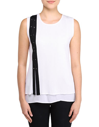 Bianca Nygard Georgette Lined Tank Top-WHITE-X-Large 88399729_WHITE_X-Large