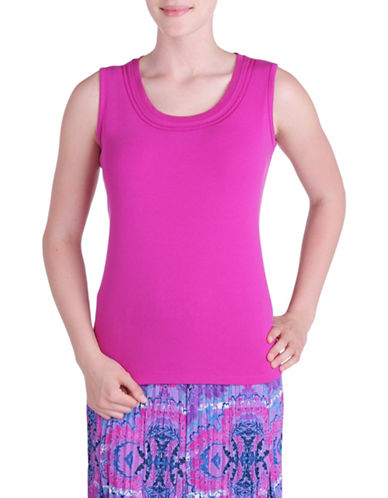 Allison Daley Embroidered Tank Top-PINK-Large 88576418_PINK_Large