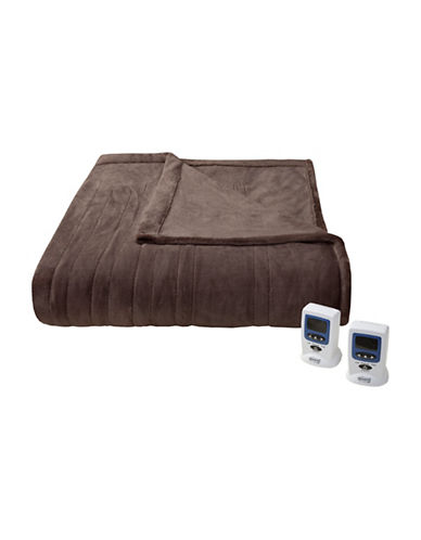 Beautyrest Black Electric Blanket-CHOCOLATE-Queen