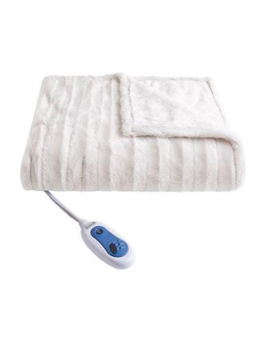 Beautyrest Black Electric Fur Throw Blanket 89356862