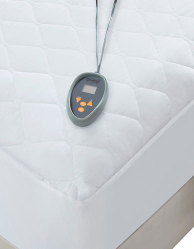 Beautyrest Black 200 Thread-Count Electric Matt Pad-WHITE-Queen