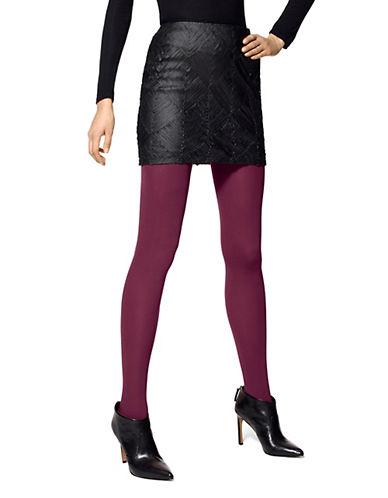 Hue Super Opaque Tights with Control Top-BURGUNDY-1
