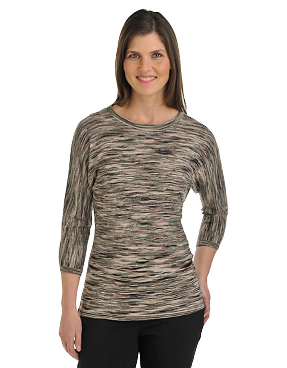 Allison daley Plus Size Dolman Tunic twig 1X