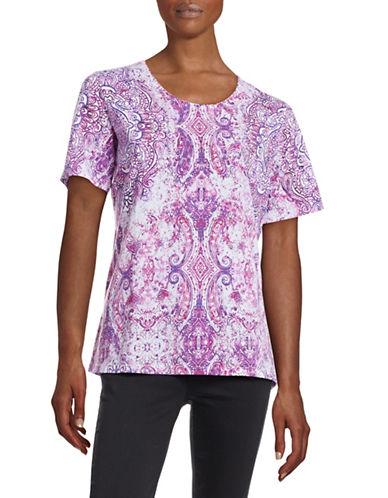 Allison Daley Crew Neck T-Shirt-PINK-X-Large 88496912_PINK_X-Large