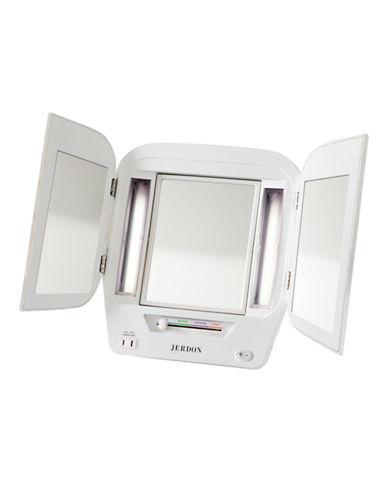 Jerdon Trifold Vanity Mirror-WHITE-One Size