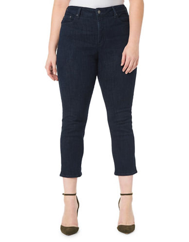 Nydj Plus Plus Marilyn Straight-Leg Pants-BLUE-18W