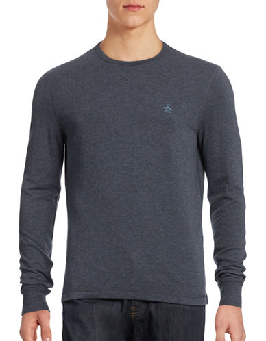 Original Penguin Reversible Long Sleeve T-Shirt-SAPPHIRE-Small 88444012_SAPPHIRE_Small