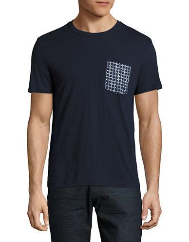 Original Penguin Printed Linen Pocket T-Shirt-BLUE-Medium 89042602_BLUE_Medium