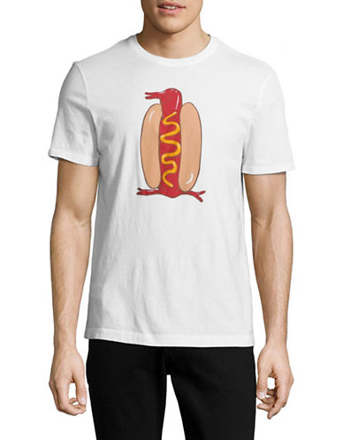 Original Penguin Hot Dog Graphic T-shirt-WHITE-X-Large