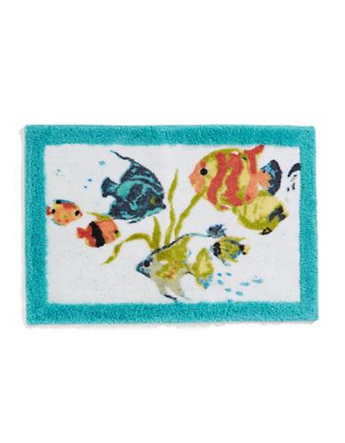 Creative Bath Rainbow Fish Bath Rug-WHITE-20x30
