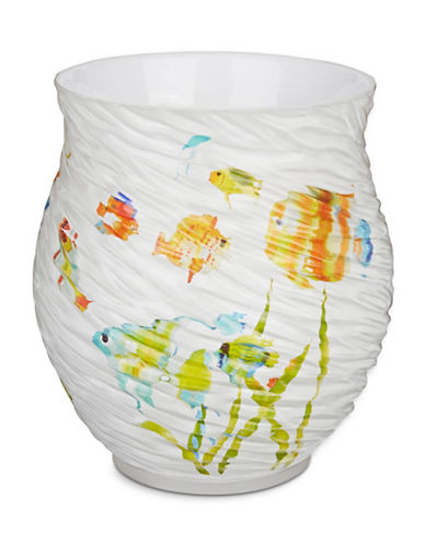 Creative Bath Rainbow Fish Waste Basket-WHITE-One Size