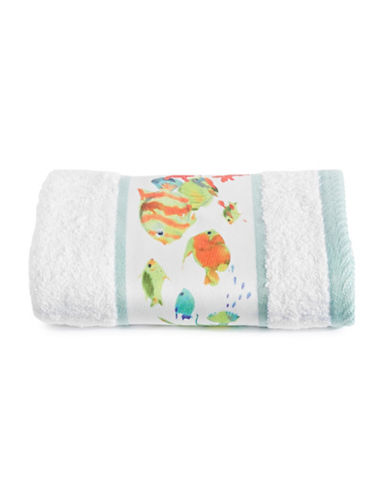 Creative Bath Rainbow Fish Hand Towel-WHITE-Hand Towel