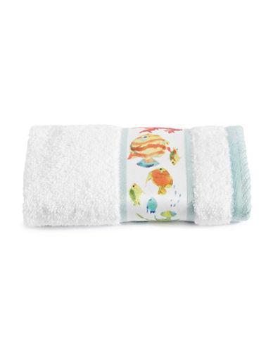 Creative Bath Rainbow Fish Washcloth-WHITE-Washcloth