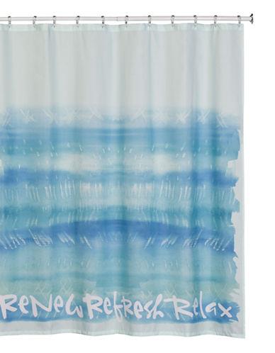 Creative Bath Printed Shower Curtain-BLUE-One Size