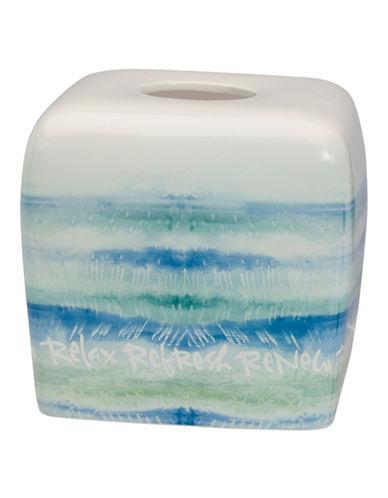 Creative Bath Ceramic Tissue Box-BLUE-One Size
