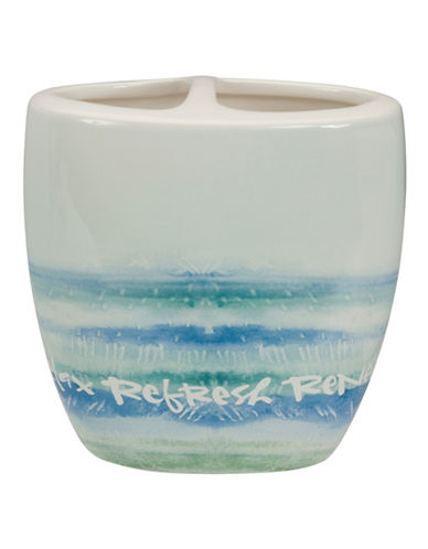 Creative Bath Ceramic Toothbrush Holder-BLUE-One Size