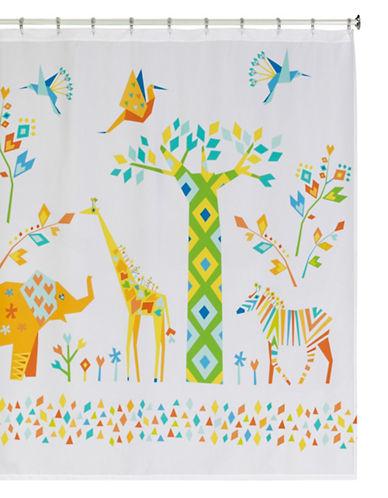 Creative Bath Origami Jungle Shower Curtain-MULTI-One Size