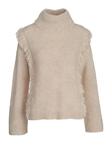Woolrich Cardinal Long Sleeve Sweater-BEIGE-X-Small