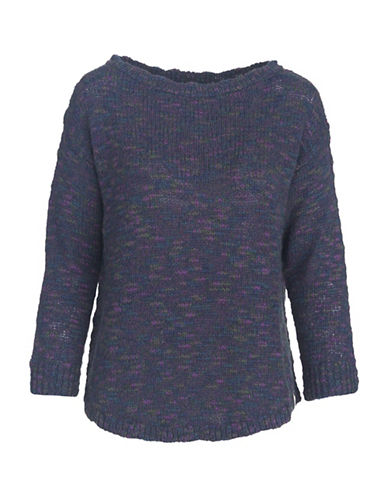 Woolrich Textured Crew Neck Sweater-BLUE-X-Small