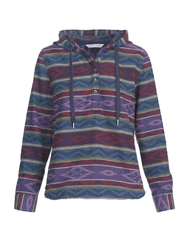Woolrich Jacquard Cotton Hoodie-BLUE-Medium