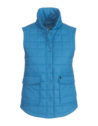 Woolrich Quilted Packable Vest-BLUE-Small