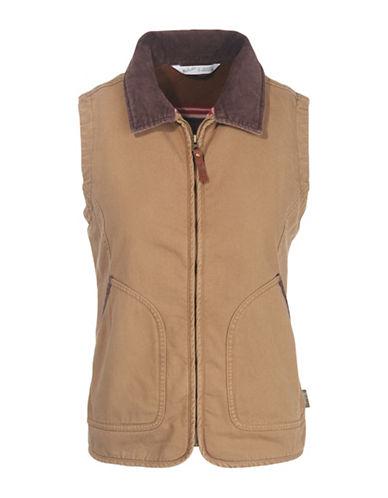 Woolrich Zip-Front Barn Vest-SEDIMENT-Small