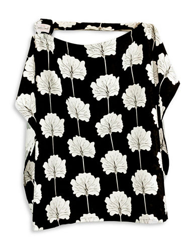 Udder Covers Lily Nursing Cover-BLACK/ WHITE-One Size